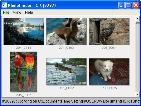 PhotoFinder Screen shot